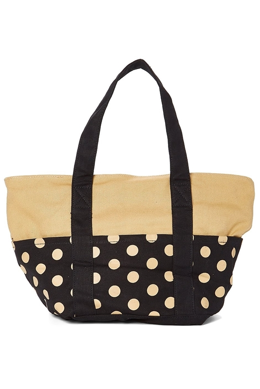 2437 Medium Polka Dot Canvas Tote