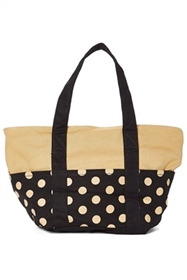 bulk medium polka dot canvas tote