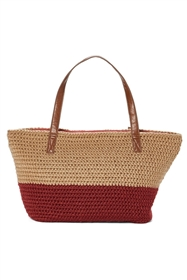 wholesale 2-tone wool crochet handbag