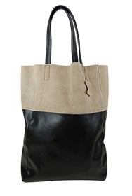 wholesale suede and pu tote bag