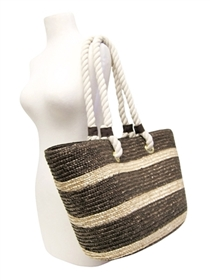 wholesale beach bags - large straw tote bag rope handles