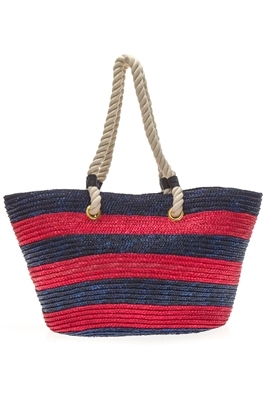 large wholesale beach bags or totes w/ thick rope handles