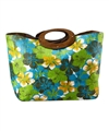 wholesale hibiscus toyo straw tote bags wood handles