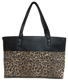 wholesale leopard and pu leather handbag