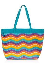 wholesale wavy stripes toyo tote bag