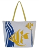 wholesale canvas beach bag with fishes