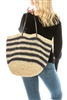 wholesale striped crochet straw tote bag