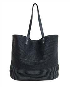wholesale black handbags straw poly