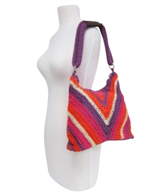 wholesale chevron crochet purse