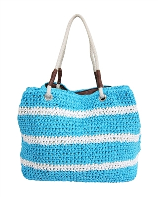 2478 Large Straw Tote Bag with Rope Handles