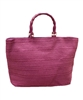 wholesale purple straw tote bags - plum summer totes - los angeles fashion accessories wholesaler