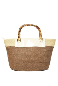 wholesale straw handbags - purses with bamboo handles