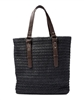 wholesale woven straw handbags with pu handles