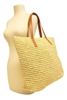 wholesale hand crocheted straw beach tote