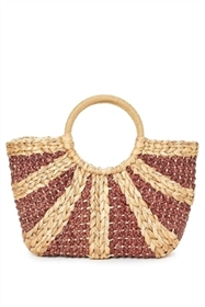 Wholesale Straw Handbags - Sectional Woven