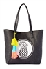 Beach Bags Wholesale - Straw Tote Bag - Pineapple Tassels