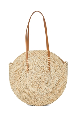 Whilesale Circle Bags - Cornhusk Straw Tote Bag