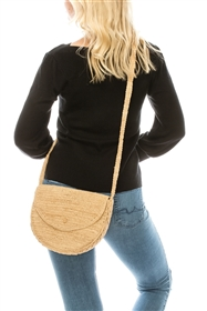 Wholesale Raffia Crochet Crossbody Bag - Hand Crocheted Beach Bags Wholesale California - Los Angeles Beach Bags Wholesale - Beach Bag Importer Wholeasler USA