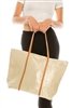 wholesale Shimmery Straw Beach Tote