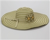 wholesale extra wide brim hats ribbon straw with flowers