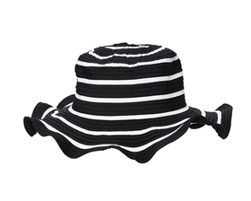 wholesale wavy brim striped sun hat