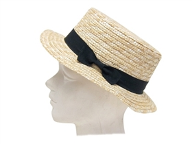 wholesale straw boater hat  bow