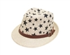 wholesale kids straw fedora star pattern