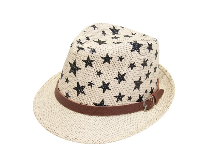 cde94c5c682 2913 Child s Star Print Straw Fedora