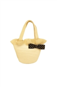 wholesale kids mini purses striped straw bag