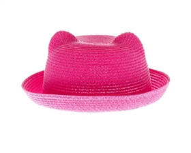 Wholesale Kitty Hats - Pink Straw PussyHats