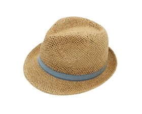 wholesale kids hats - fedora hat denim band
