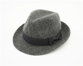 Wholesale Kids Grey Fedora Hats - Winter