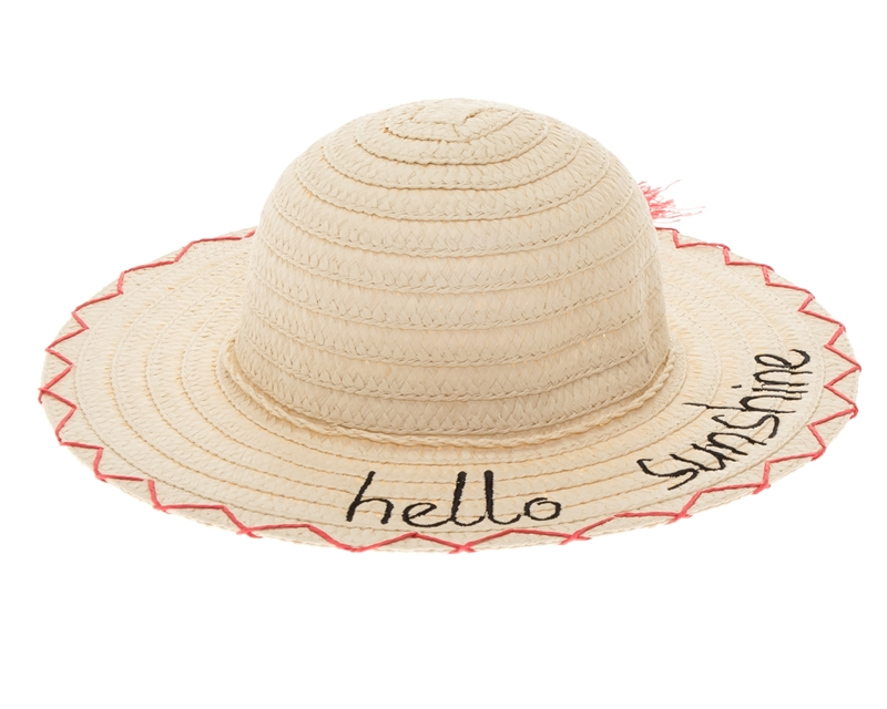 Wholesale Kids Sun Hats - Embroidered Beach Hat - Los Angeles f7071d7844c