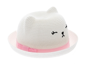 wholesale infant hats baby kitty straw hat