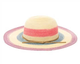 wholesale Kids Sun Hat - Lavender/Blue Stripes