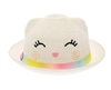 wholesale Kids Straw Kitty Hat - Smiles