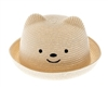 wholesale beach hats - Kids Straw Bear Hat