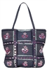 wholesale denim tote bags sequins embroidery
