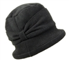 wholesale black fleece cloche  bow