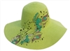 wholesale floppy straw hats - butterfly prints