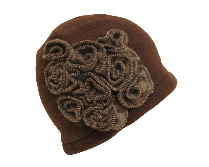 ab27de45735 3030 Wool Beanie with Rosette Cluster