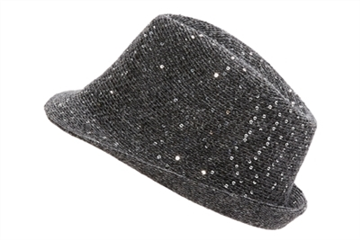 wholesale sequin knit fedora