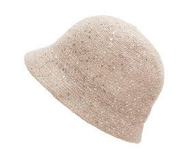 wholesale sequin knit cloche hat