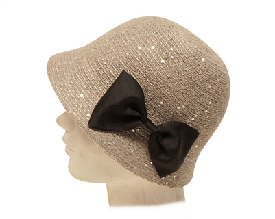 wholesale cloche hats with bow