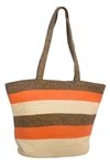 wholesale beach tote bags - striped straw summer bags