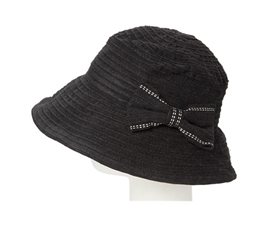 wholesale chenille bucket hat  bow