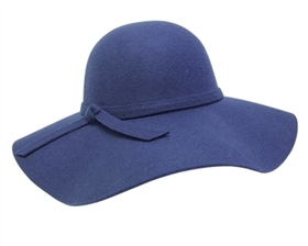 wholesale felt floppy hats wide brim tied band