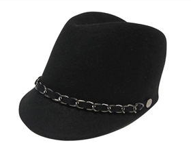 wholesale wool felt riding cap  chain band