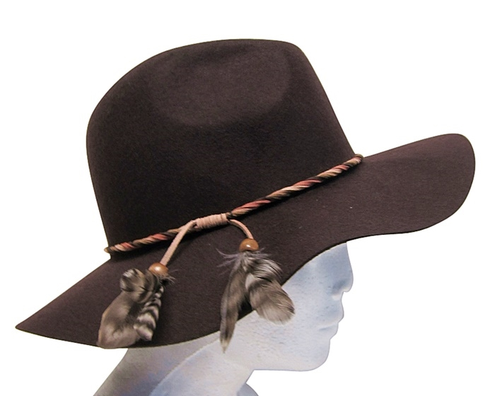 d94f3d1e68d 3074 Wool Felt Panama Hat with Feathers