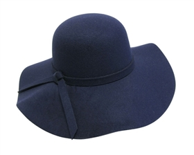 wholesale faux felt floppy hat with tie